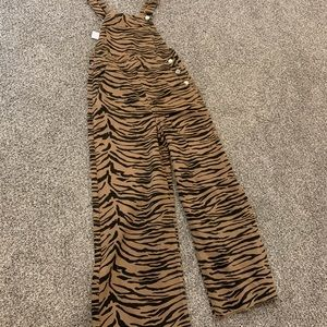 Topshop Zebra Overalls
